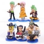 FIGS067 – One Piece WCF 6pcs – 2 Toc Xanh La – 4
