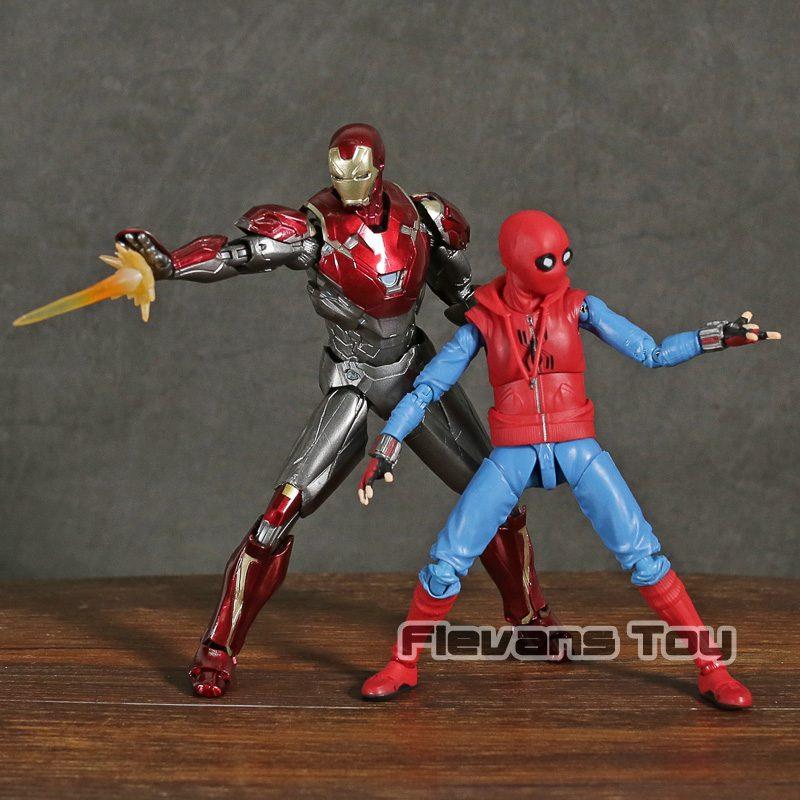 FIGM014 – Spider-man _ Iron Man MK47 – Home Made Suit Ver – SHF – 3