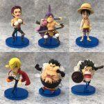 FIGS130 – One Piece WCF 6pcs – 3 Luffy – 2